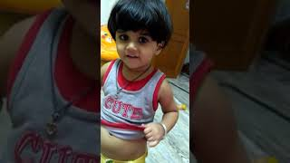 2 year baby Young child sing  sweet song
