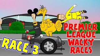 RACE 3 Premier League Wacky Races (Everton 0-2 Man City, goals highlights)