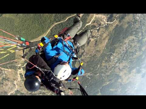 Paragliding from Sarangkot over Pokhara