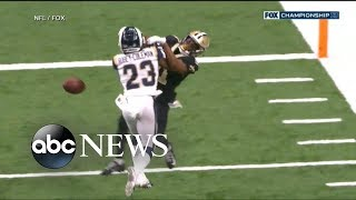 NFL slammed over bad call in Saints playoff game