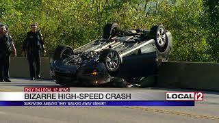 Survivors of bizarre high-speed crash amazed they walked away unhurt
