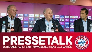 Stellungnahme zu Medienberichten | Hoeneß, Rummenigge & Salihamidžić im FC Bayern-Pressetalk
