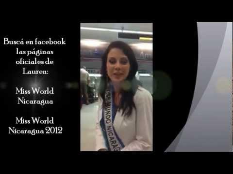 Miss Mundo Nicaragua 2012 – Lauren Lawson