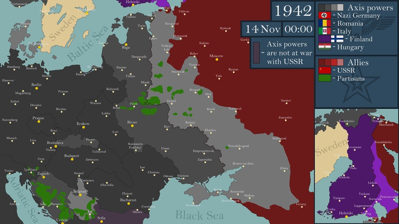 World War II - Eastern Front (1941-1945) - Every Day
