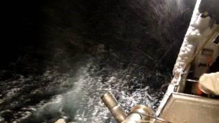 Bering sea bad weather fishing Ice