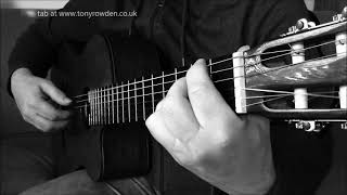 Strawberry Fields Forever - FREE TAB - Beatles fingerstyle www.tonyrowden.co.uk