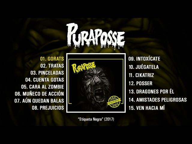 """Álbum completo de Puraposse, titulado """"Etiqueta Negra""""."""