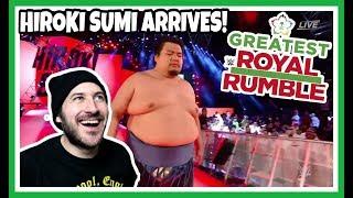 Reaction | #7 - HIROKI SUMI - SURPRISE ENTRY - WWE GREATEST ROYAL RUMBLE APRIL 27, 2018