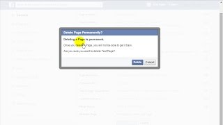 How to Delete Facebook Page Permanently - 2015