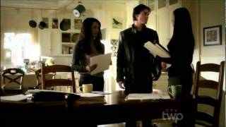 "3x12 Damon & Elena ""We kissed, now it's weird"" Vampire Diaries"
