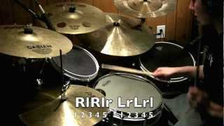 DRUM LESSON 5/4 single stroke groove - Luke Snyder Drums