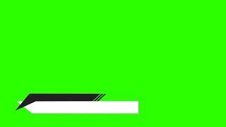 Barras Animadas #1 - Lower Thirds #1 / Green Screen - Chroma Key