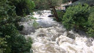 Slow motion video of river flowing