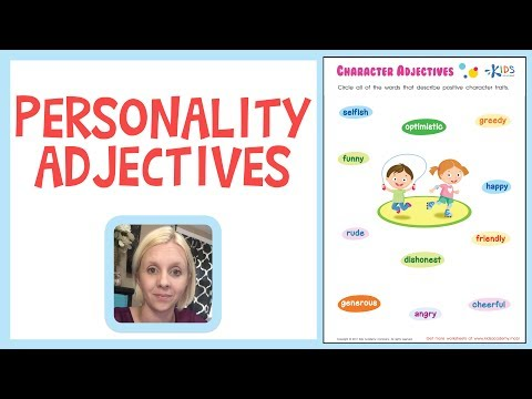 Personality Adjectives - Building Vocabulary - 3rd Grade