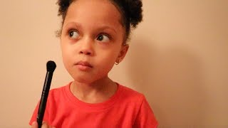 ASMR toddler doing your makeup role-play ( VERY CUTE AND RELAXING )