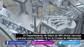 El Departamento de Salud de MN ofrece vacunas gratuitas contra COVID-19 en la Ciudad de Minneapolis