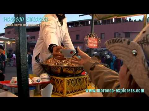 Jemaa el Fna eating snails and snail soup in Marrakech