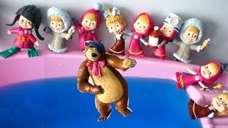 Ten Masha swimming on the pool Bed & Learn numbers Compilation video for children