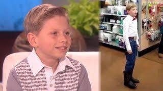 Yodel Boy Says He's Performed at Walmart 50,000 Times & Gets MAJOR Surprise On Ellen