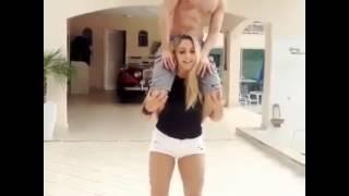 Strong girl lift a boy!!!! width=