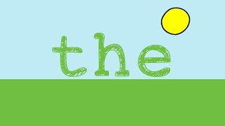 """The- Sight Word Song for the word """"The"""""""