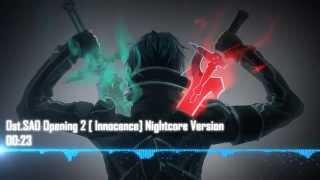 Ost SAO Opening 2  Innocence Nightcore Version