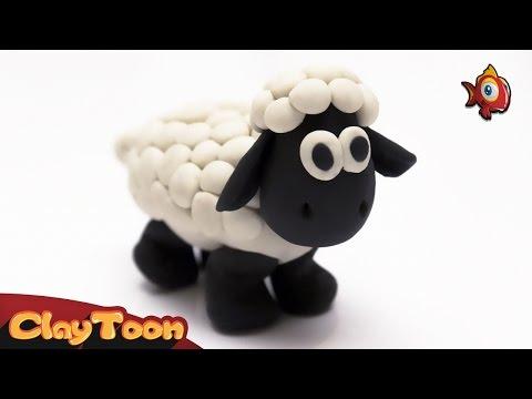 Sheep - Polymer clay tutorial | خروف - تشكيل صلصال للأطفال