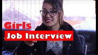 Beautiful Girls vs Smart Guy Job Interview | Soltini ft. Riyasha | Nepali Comedy Video | Ramailo Tv