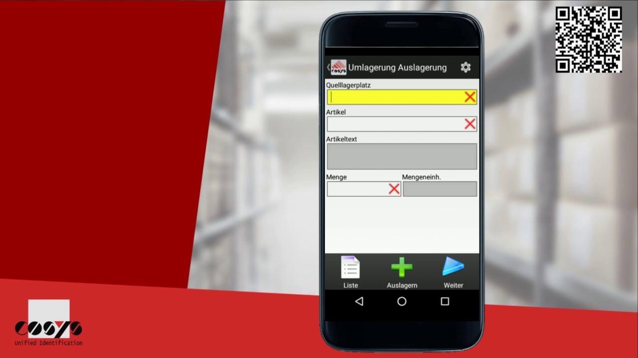 Umlagerung mit Android erfassen, übersichtlich und organisiert! | COSYS Warehouse Management Module