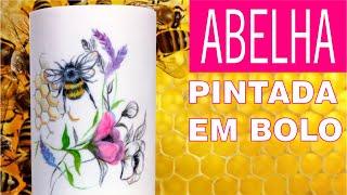 Como pintar o efeito de colmeia e uma abelha em um bolo