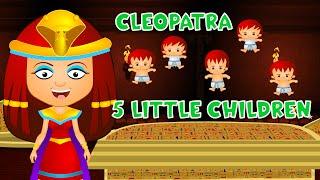 Five Little Children Ft. Cleopatra | Historic Finger Family for Kids