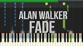 Alan Walker - Fade (Synthesia Tutorial) [HD] +Midi & Sheet Music!