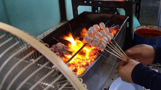 Thai Food - ROASTED Tendon Meatballs and Beef Noodles in Bangkok! ร้านลูกชิ้นอนามัย ลูกชิ้นเอ็น