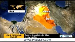 IRAQ: Oil exports disrupted after Blast in key pipeline explosion (2nd attack in past 4 days)