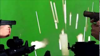 Guns Shooting Green Screen  effect