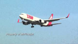 Arrivals at Heathrow Airport TAM Linhas Aéreas 767-300ER {PT-MSO} PLANE SPOTTING Landing