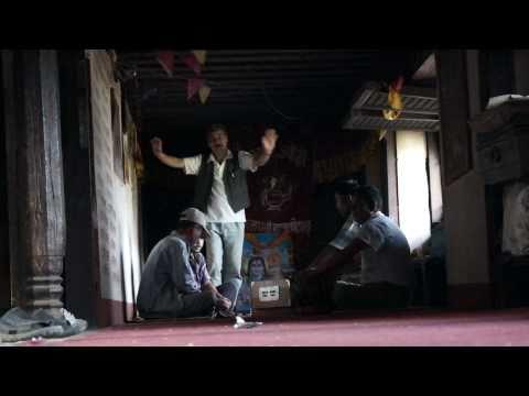 Singing and dancing in Panauti, Nepal