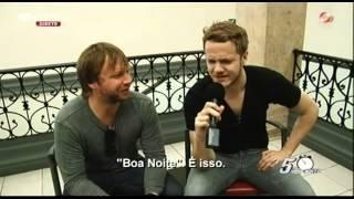 """Entrevista com """"Imagine Dragons"""" Parte 1 - Luís Filipe Borges - 5 Para a Meia Noite"""