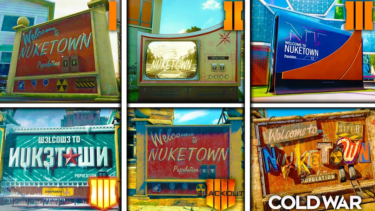 YankeeYT - the EVOLUTION of NUKETOWN in Call of Duty (BO1-Cold War) Black Ops Nuketown Easter Eggs