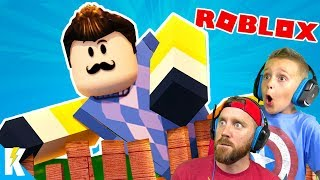 CRAZY Hello Neighbor Games in ROBLOX! KIDCITY GAMING