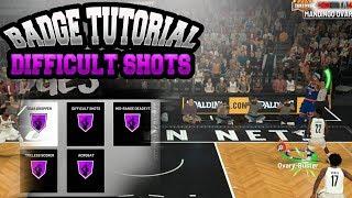 NBA 2K19 HOW TO GET DIFFICULT SHOT BADGE IN 1 GAME!!! SUPER EASY HOF BADGE TUTORIAL