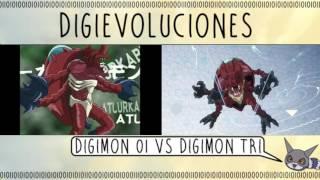 """Digimon Adventure""""Comparación De Digievoluciones Entre Digimon 01 VS Digimon Tri 02"""