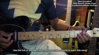 INXS New Sensation Electric Guitar COVER And LESSON LINK EricBlackmonGuitar HD