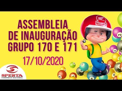 Sperta Consórcio - Assembleia de Inauguração - Grupo 170 e 171 - 17/10/2020