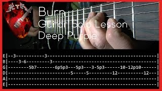 Burn Guitar Solo Lesson - Deep Purple (with tabs)