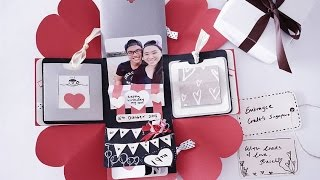 DIY birthday exploding box card (Sweetheart surprise)
