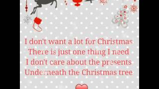 All I want for Christmas is you! With lyrics
