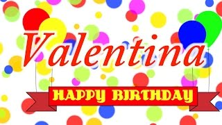 Happy Birthday Valentina Song