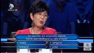 Vrei sa fii milionar? (18.12.) - Ce mamifer are amprente digitale foarte asemanatoare cu cele umane?
