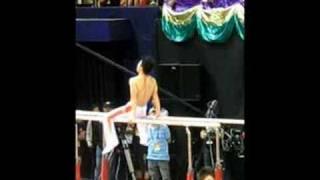 [2008.08.30] 國家金牌體操示範 - 陳一冰 + 李小鵬熱身